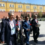 The WFTU delegation laid flowers to the Grave of the Unknown Soviet Soldier
